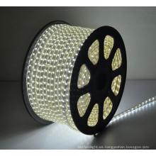100m / 50m La decoración al aire libre de la venta caliente el mejor precio LED tira 110V 220V CE impermeabiliza ip65 smd5050 llevó la tira ligera llevada
