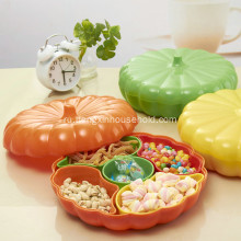 Plastic Creative Pumpkin Shaped Food Container