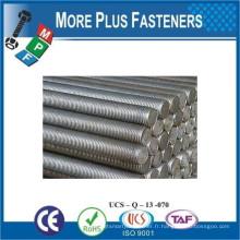 Fabriqué en Taiwan DIN 975 Classe 8 8 Matériau Revêtement en acier Finition simple