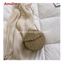 Cheap ladies round circle beach straw bag