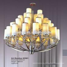 Iluminación europea de la lámpara de la vela del hierro labrado de Chrome