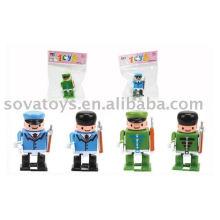 Enrolar brinquedos de plástico polícia