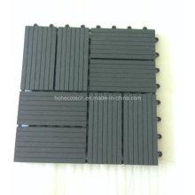 Высокая плотность дизайна сада блокировки напольная плитка настил WPC плитки DIY
