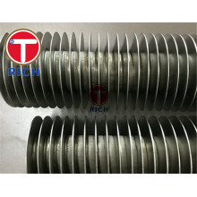 Tubo da aleta da espiral da finned de cobre do refrigerador da aleta do ar