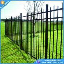 Cercas de jardim de privacidade de metal barato personalizado de alta qualidade / dobrável metal cercas cores diferentes