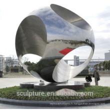 Nouvelle sculpture en acier inoxydable haute qualité technologique jardin et extérieur