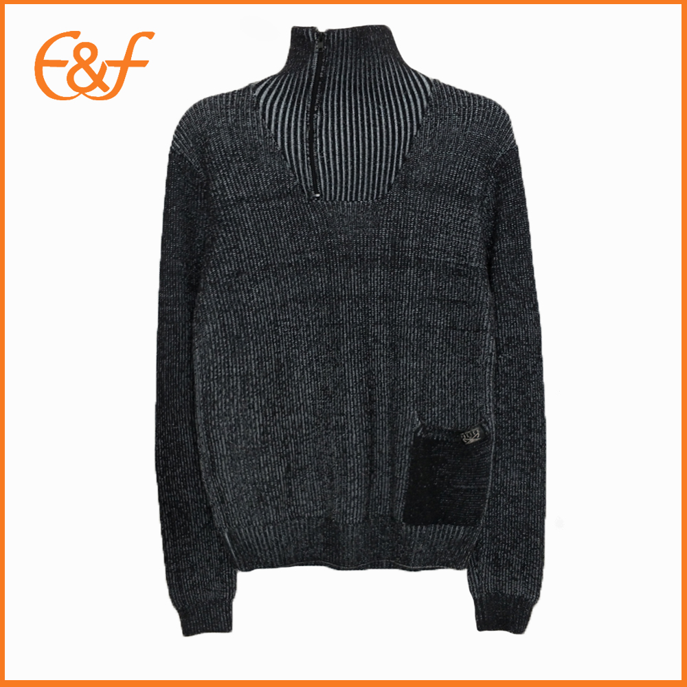 Mens Turtleneck Sweater With Zipper Sweater For Guys
