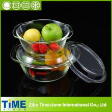 Ensemble de casserole en verre à base de borosilicate de haute qualité (TM8011)