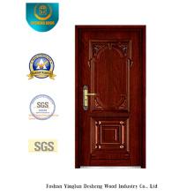 Puerta blindada de seguridad de estilo clásico con talla (b-6008)