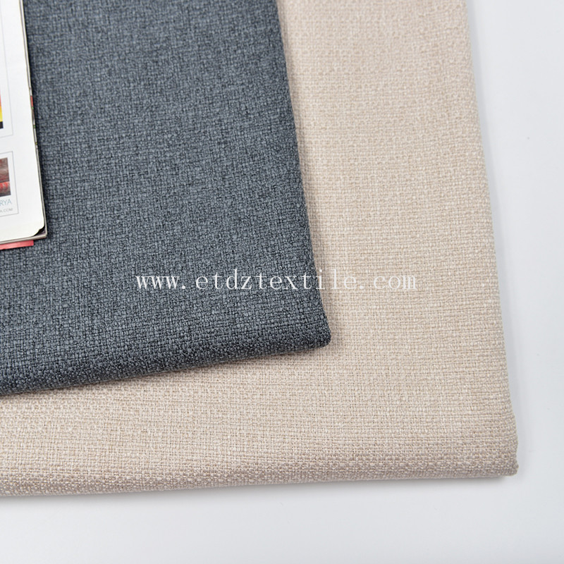 Upholstery 100% Polyester Textile Linen Woven Fabric Sofa Decorative