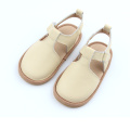 New Style Beige White Leather Sandals Kids