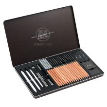 Andstal Renoir 27pcs set Professional Sketching Pencil Tool Set  Pencils Charcoal Sets Art Supplies