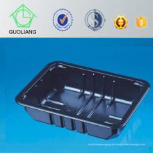 Großhandelskundenspezifischer schwarzer Plastikfrischer Frucht-Verpackungsbehälter