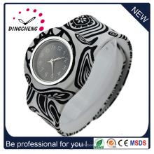 Relógios impermeáveis da torção do silicone de quartzo para adultos das crianças (DC-1353)