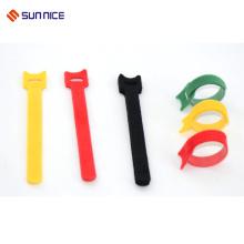 Laço de nylon do cabo da fita do laço do gancho dos lados dobro reusáveis