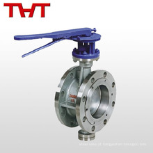 Válvula de borboleta de alta pressão assentada com metal com alavanca