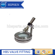 Sanitary stainless steel flange type sight glass with light