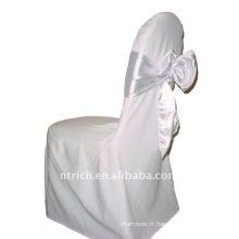 banquet de couverture de chaise, housse de fauteuil polyester CT229, tissu épais 200GSM, durable et facile lavable
