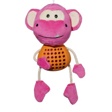 natural rubber monkey shaped latex feeder dog toys