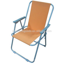 Steel spring folding beach chair