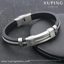 Pulsera-13-xuping moda hombres de acero joyas para hombre pulseras hechas a mano