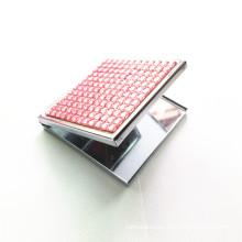 Квадратное Металлическое Косметическое Карманное Зеркало (BOX-12)