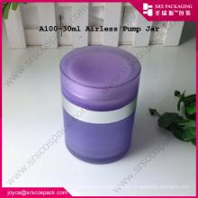 Frasco de crema sin aire acrílico de 30ML y embalaje cosmético plástico airless