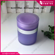 30ML acrylic airless cream jar and plastic airless cosmetic packaging