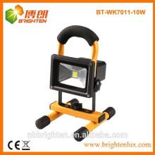 Fuente de fábrica 10w lámpara llevada emergencia de la luz de trabajo recargable con 3 años de garantía