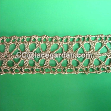 Cotton Crochet Lace in Brown Color