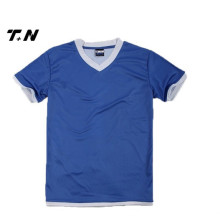 100% poliéster camiseta, diseño nuevo barato llano T Shirts