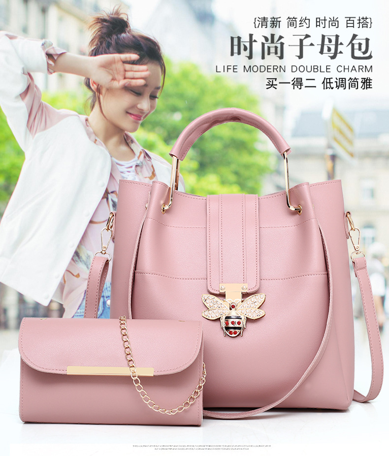 Promotional top quality fashion pu shoulder lady handbag