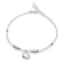 Mode féminine Boucles d'oreilles en forme de cœur simple en argent sterling 925