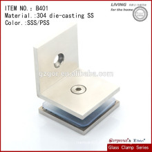 Stainless Steel Glass Clamp Round Type Flat Back