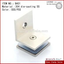 Aço inoxidável Clamp de vidro Round Type Flat Back