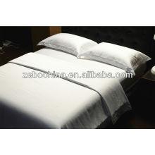 Dreamy color blanco 4pcs algodón puro al por mayor hotel ropa de cama conjunto