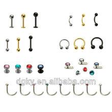 Vente en gros Body Piercing Jewelry Piercing en bijoux en acier inoxydable chirurgical