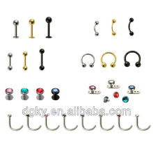 Wholesale Body Piercing Jewelry Surgical Stainless Steel Jewel Piercing