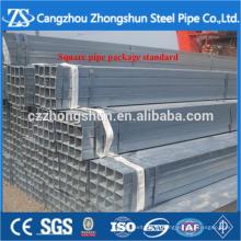 Tuyau d'acier rectangulaire standard zingué ASTM