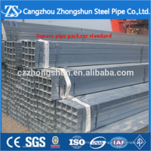 ASTM standard zinc plated rectangular steel pipe