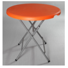 Folding round dining table