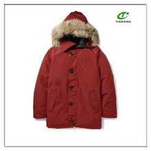 2015 new warm cheap red down-filled men parka