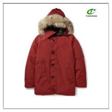 2015 новый теплый дешевые красные пуховые мужские куртка