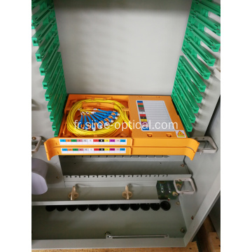 144 Cores Compact Fiber Optic Cross Connect Cabinet