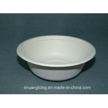 12.5oz / 350ml Bowl (Bagasse) Louça Biodegradável Placas de alimentos Sugarcane Pulp
