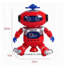 Dança da música piscando crianças inteligentes bebê Spaceman plástico brinquedo robô