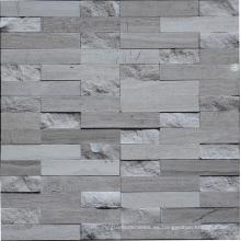 Mosaico de mármol gris de la tira para el azulejo de la pared (HSM174)