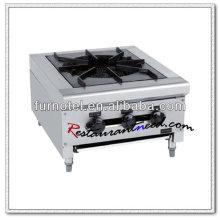 K225 acier inoxydable 1 brûleur brûleur à gaz Clay Pot