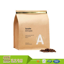 Таможня напечатала мешки gusset стороны корзины 350grams Kraft кофе Упаковывая с связью олова