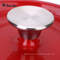Sarchi Cast-Iron Casserole Round Wide Cocotte With Enamel Coating